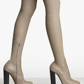 CELINE - Thigh High Boot Rider in Calfskin Taupe