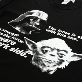 "COMME DES GARÇONS SHIRT - ""Beware of the dark side"" T-Shirt"