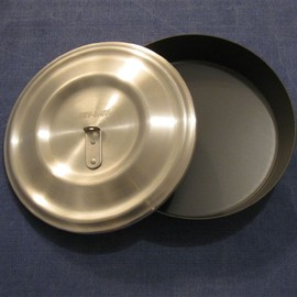 Banks Fry-Bake - Expedition Fry-Bake pan with lid  Measures 10.5 inches in diameter by 2 inches deep.