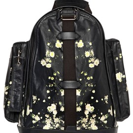 GIVENCHY - SS2015 FLORAL PRINTED LEATHER CARGO BACKPACK