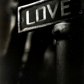 W. Eugene Smith - 'Love' a streetsign in a poor Black district - 1955