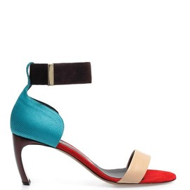 NICHOLAS KIRKWOOD - Colour-block ankle strap sandals