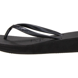 Havaianas - High Light Wedge Flip Flops [Black]