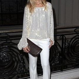 style icon - Rachel Zoe - all white & a pop of flare