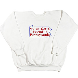 VINTAGE - Vintage 80s You've Got a Friend in Pennsylvania Crewneck Sweatshirt Mens Size Medium