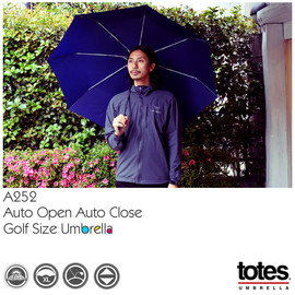 totes - totes[トーツ] A252 Auto Open Auto Close Golf Size Umbrella 折りたたみ傘 ラージ