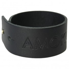 Atoms for peace - AMOK LEATHER WRISTBAND