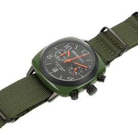 Briston - Club Master Chronograph Date - Olive/Black/Orange