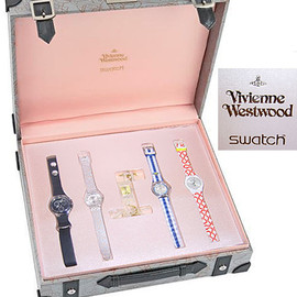 "Vivienne Westwood, Swatch - Swatch × Vivienne Westwood ""Flying Time"" Box Set 2001S/S Collection GWS01P 限定500セット"