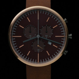 Uniform Wares - Primary photograph of product '300 Series (PVD Rose Gold / Walnut Brown Leather)'