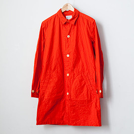 Manual Alphabet - 【Men's&Ladies'】Manual Alphabet / Typewriter shirt coat : orange