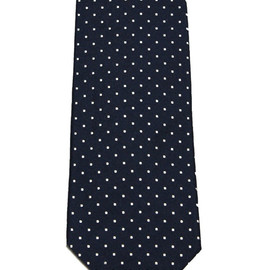 Brooks Brothers - Vintage Brooks Brothers Navy Silk Polka Dot Necktie Made in USA