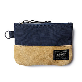 "HEAD PORTER - ""JACKSON"" ZIP WALLET NAVY"