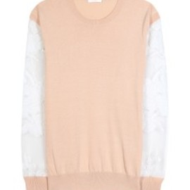 Chloe - Chloé - PULLOVER WITH APPLIQUÉD SLEEVES - mytheresa.com GmbH