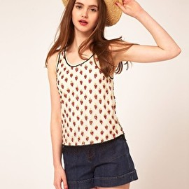 ASOS - ASOS Vest with Strawberry Embellishment