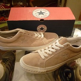 """converse - 「<deadstock>90's converse ONE STAR SUEDE OX stone/lt.stone""""made in USA"""" size:US9/h(28cm) 18800yen」完売"""