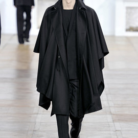 Dior Homme - Fall 2011 Black Wool Cape-Coat