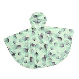 Columbia - Rainy Day Poncho (For Girls) in Pale Mint Sea Shell Print