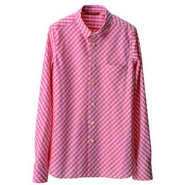 TROPOPAUSE - Pink Gingham Bia Shirt