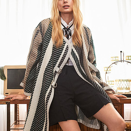 See by Chloé - See by Chloé Oversized Striped Coat