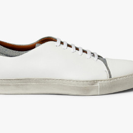 Acne - Carlo Leather & Denim Shoes