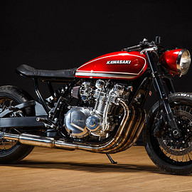 KAWASAKI - Red Rooster: A Low-Slung Kz1000 by Krakenhead