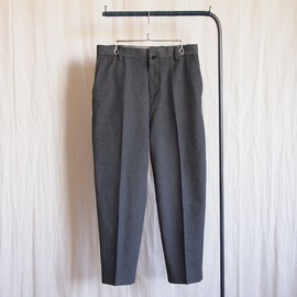 YAECA - Slim Slacks #charcoal