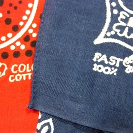 ELEPHANT / MADE IN USA - Vintage Bandanna / FAST COLOR