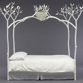 Shawn Lovell Metalworks - White Tree Bed