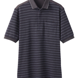 UU - UU Washed pique striped polo shirt(S)+