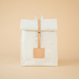 SHOP BY THISISPAPER - Top Roll Rucksack Off White