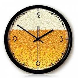 hallomall - Creative Beer Foam Wall Clock