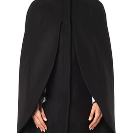 Alexander McQueen - High-neck wool cape