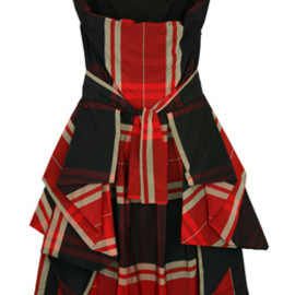 Vivienne Westwood Anglomania - Vivienne Westwood Anglomania Multi Bale Sunday Dress