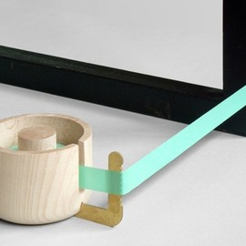 Present & Correct - Wood & Brass Tape Dispenser