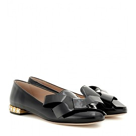 miu miu - Embellished patent leather loafers