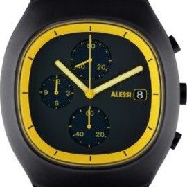 ALESSI - 21011 Black and Yellow Analog Sport Watch