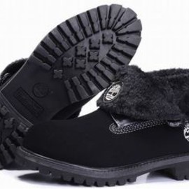 Mens Timberland Roll Top Boots With Second Floor And Wool Black - wholesale mens black roll top timberland boots with second floor and warm wool