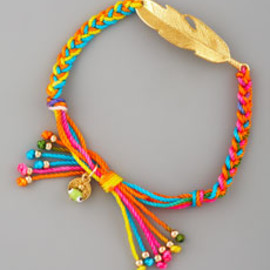 Blee Inara - Feather Macrame Friendship Bracelet