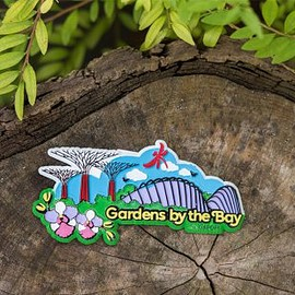 Gardens by the Bay - Gardens Scenery Rubberised Magnet