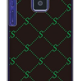 SECOND SKIN - S Monogram ブラック×グリーン(クリア)design by ROTM / for P-04D/docomo