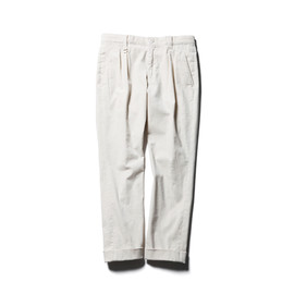SOPHNET. - STRETCH CORDUROY 2 TUCK ANKLE CUT PANT