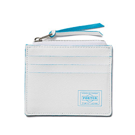 "HEAD PORTER - ""CAPRI"" CARD CASE WHITE"