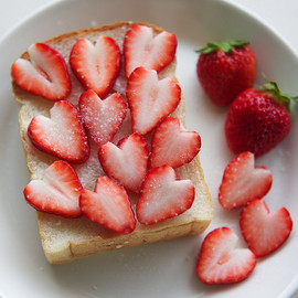 Heart Strawberry and Toast