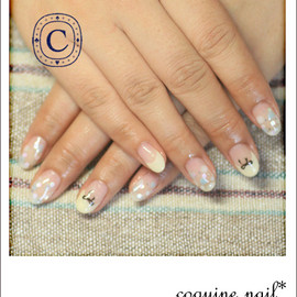 coquine nail - キイロとソーダとりぼんなネイル。