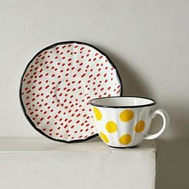 anthropologie - Dot Pop Cup & Saucer