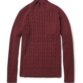 Undercover - Cable-Knit Cotton Funnel-Neck Sweater