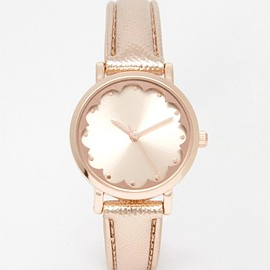 ASOS - Image 1 of New Look Scallop Face Rose Gold Watch