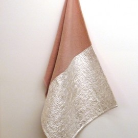 Edith Dekyndt - Blanket Pink Silver Fold, 2012 Blanket and silver, fold
