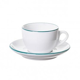 Ancap - Verona Teal Painted-Rim Cups and Saucers